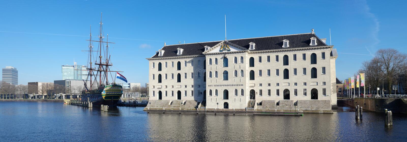 Museu marítimo de Amsterdão fotos de stock