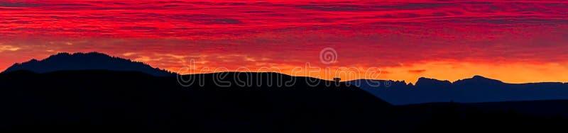 Panorama do nascer do sol no parque nacional grande de Teton fotos de stock royalty free