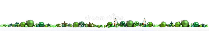 Panorama do Natal no branco imagens de stock royalty free