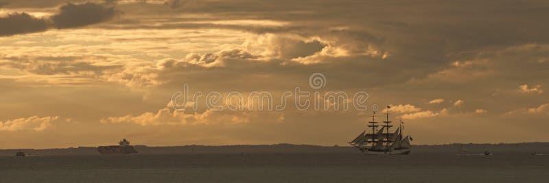 Panorama do navio do Europa fotos de stock royalty free