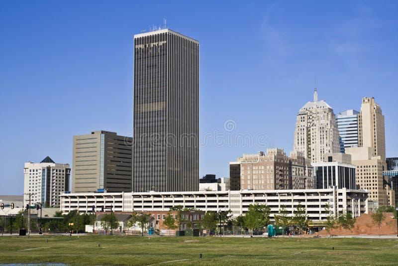 Panorama do Oklahoma City foto de stock royalty free