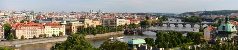 Panorama do parque ( do ¡ de LetnÃ; Letenske Sady) praga República checa fotografia de stock royalty free