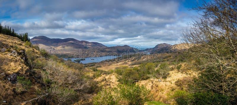 Panorama do parque nacional de Killarney fotografia de stock