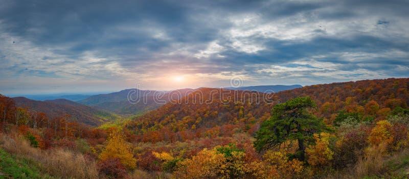 Panorama do parque nacional de Shenandoah imagens de stock