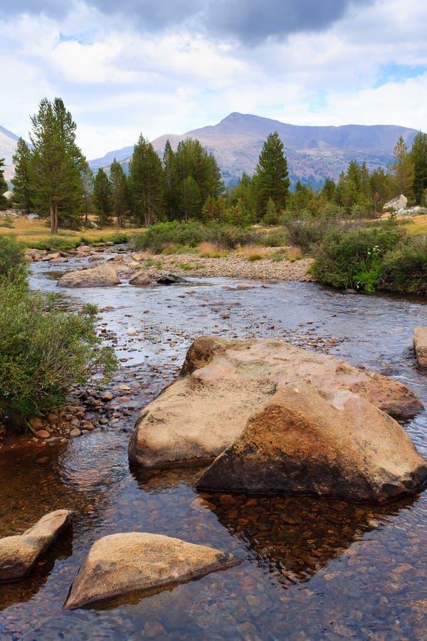 Panorama do parque nacional de Yosemite imagem de stock royalty free