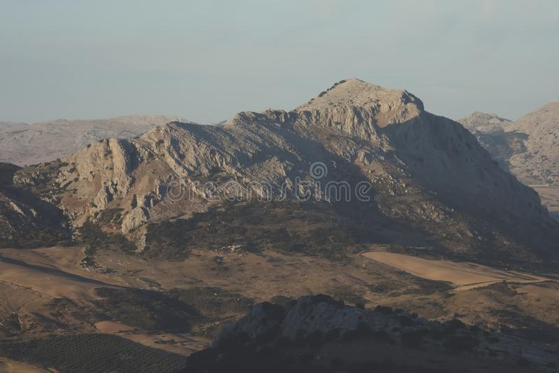 Panorama do parque natural do EL Torcal em Antequera, Malaga, Espanha foto de stock