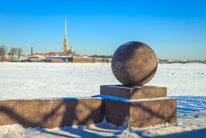 Panorama do Peter e do Paul Fortress em St Petersburg fotos de stock