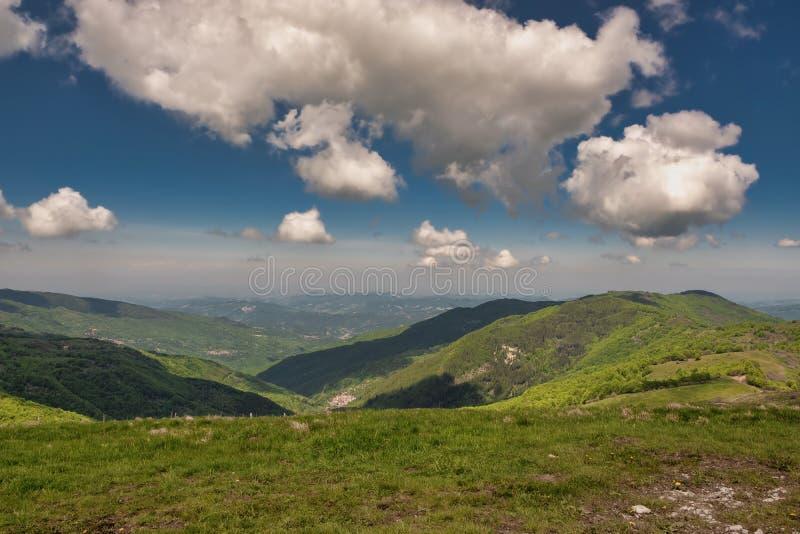 Panorama do pico de Monte Chiappo Pequim, foto preto e branco de China imagens de stock royalty free