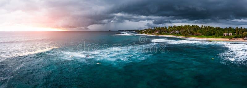 Panorama do ponto da ressaca nomeado Coco fotografia de stock