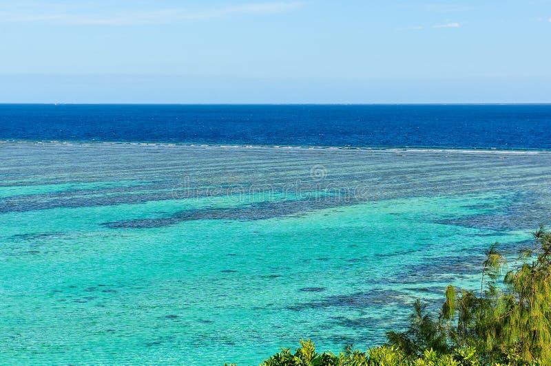 Panorama do ponto de vista em Mana Island, Fji fotografia de stock royalty free
