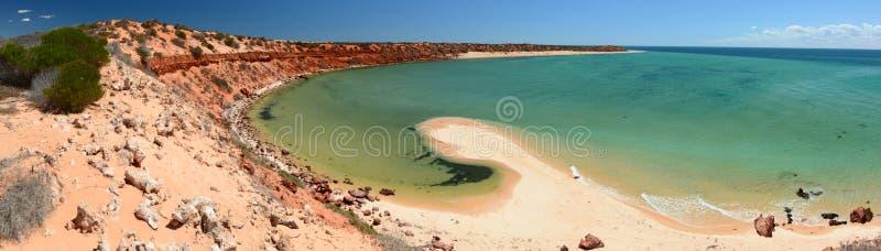 Panorama do ponto dos Skipjack Parque nacional de François Peron Baía do tubarão Austrália Ocidental fotografia de stock