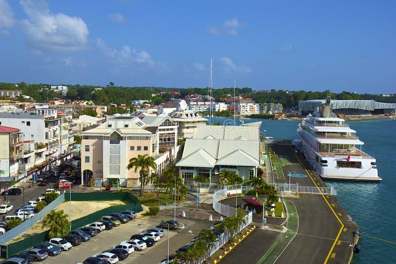 Panorama do ponto um Pitre - capital de Guadalupe, das caraíbas foto de stock royalty free