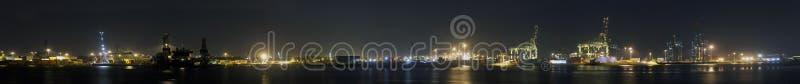 Panorama do porto de Rotterdam imagens de stock royalty free