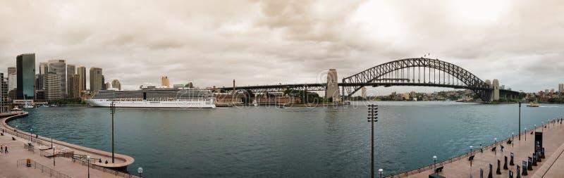 Panorama do porto de Sydney fotos de stock