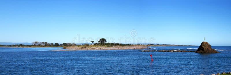 Panorama do porto de Whakatane imagens de stock