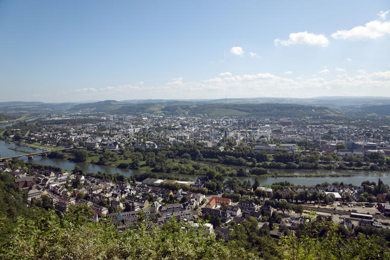 Panorama do Trier fotos de stock