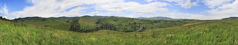 Panorama do verão de montanhas de Altai. foto de stock royalty free