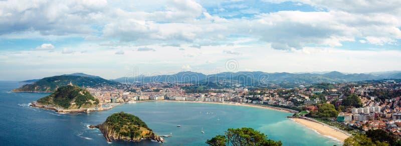 Panorama Donostia San Sebastián lizenzfreie stockfotografie