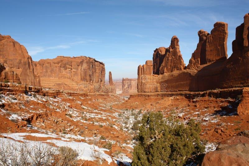 Panorama dos arcos parque nacional, Utá, EUA fotografia de stock royalty free