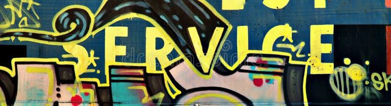 Panorama dos grafittis fotografia de stock
