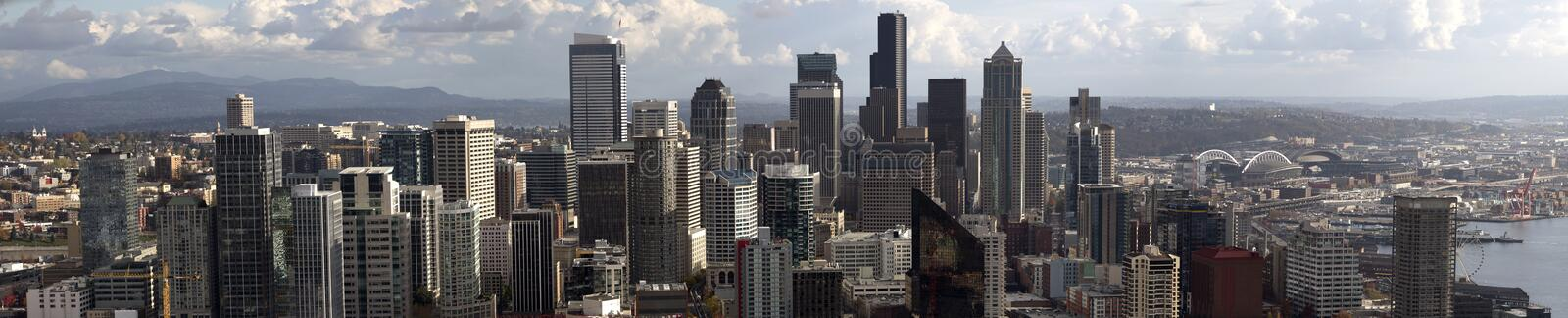 Download Panorama Of Downtown Seattle Stock Photo - Image of america, cosmopolitan: 35880570