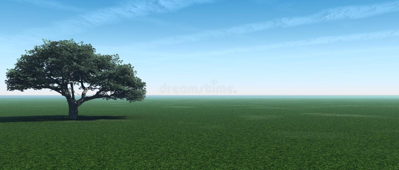 panorama drzewo royalty ilustracja