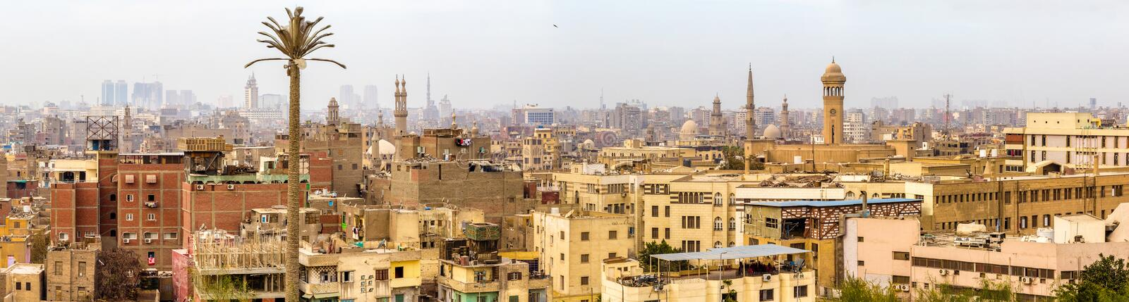 Panorama du Caire islamique images stock