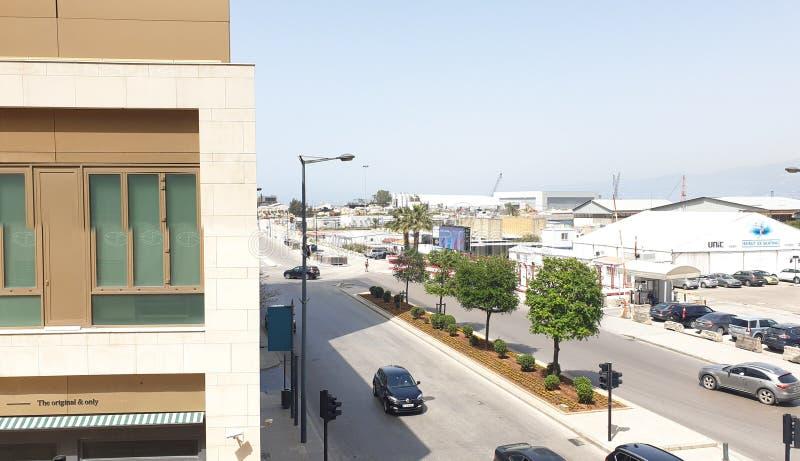 Panorama du centre d'horizon de rue du Liban Beyrouth photo stock