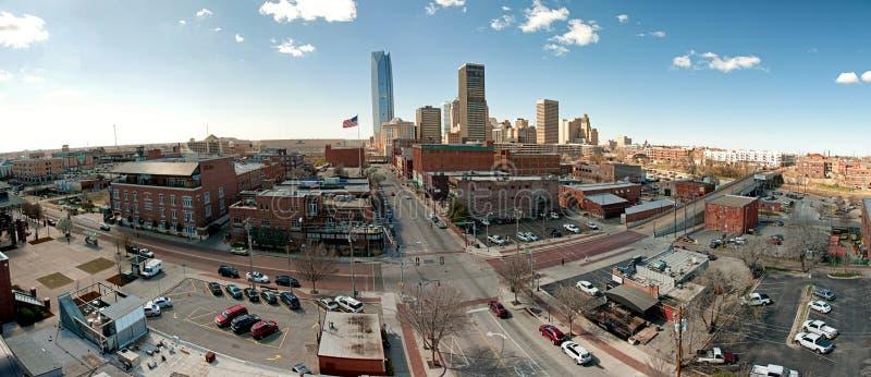 Panorama du centre de Ville d'Oklahoma photo libre de droits