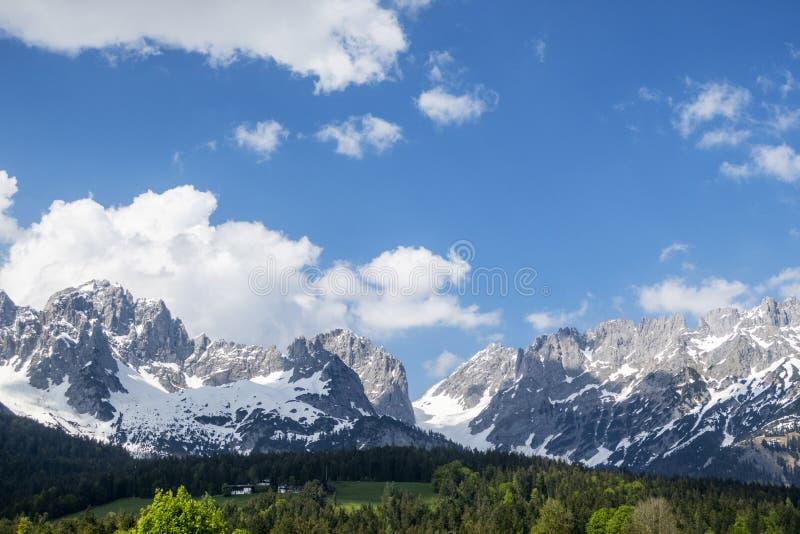 Panorama du kaiser plus sauvage photographie stock libre de droits