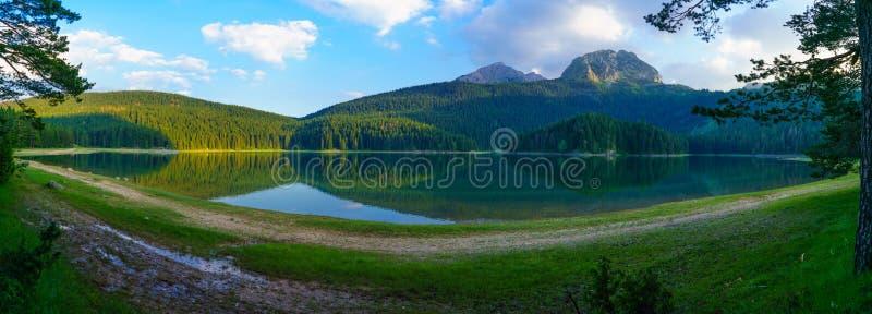 Panorama du lac noir, Durmitor photo stock
