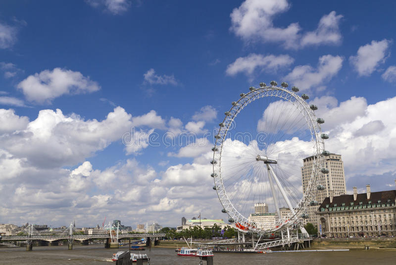 Panorama du sud de côté de Londres photographie stock