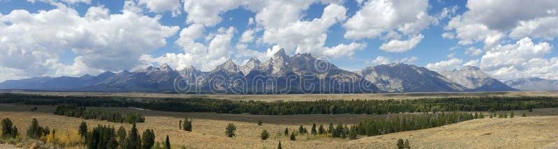Panorama du Tetons grand images libres de droits