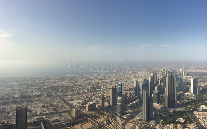 Panorama Dubaj fotografia stock