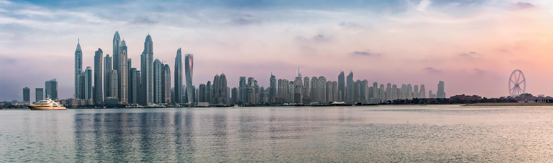 Panorama Dubaj Marina zdjęcie royalty free