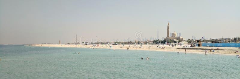 Panorama Dubaj, od Nabrzeżnego obrazy stock