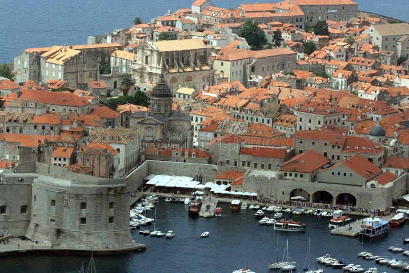 Panorama of Dubrovnik stock image