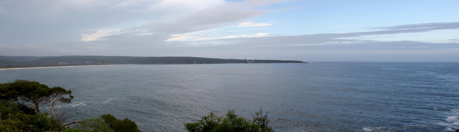 Panorama of Eden harbor entrance royalty free stock photo