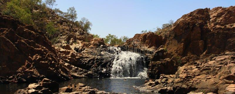 Panorama - Edith nedgångar, Nitmiluk nationalpark, nordligt territorium, Australien royaltyfri bild