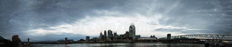 Panorama EDITORIAL de Cincinnati Ohio fotografía de archivo libre de regalías