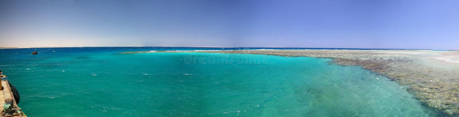 Panorama of the egiptian reef. An extraordinary view of the egiptian reef royalty free stock photos