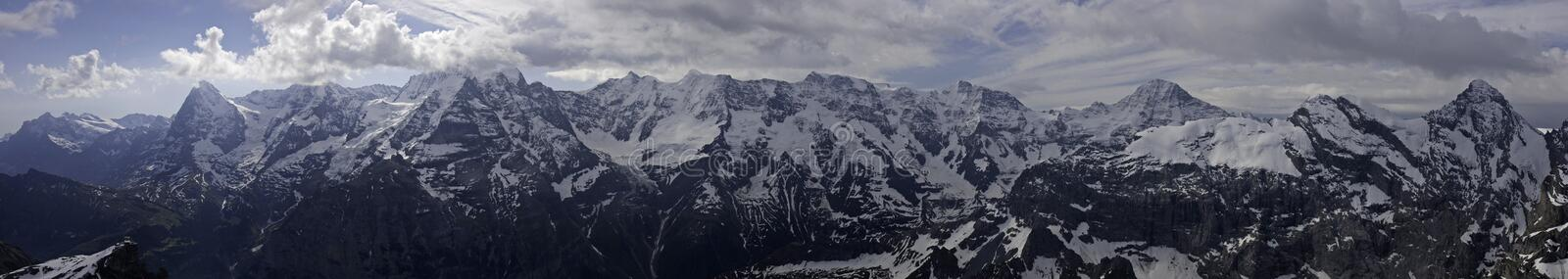 Download Panorama Of Eiger, Moench, Jungfrau Stock Image - Image: 11041391