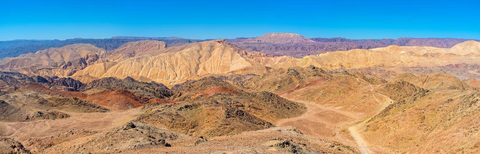 Panorama of the Eilat's desert stock images