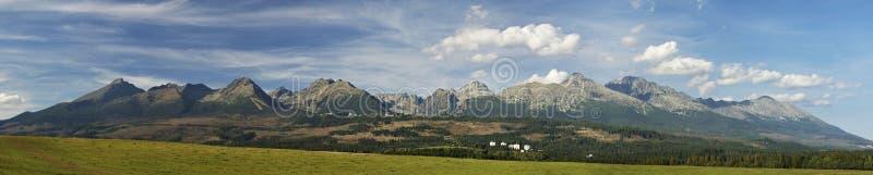 Panorama elevado de Tatras imagem de stock royalty free