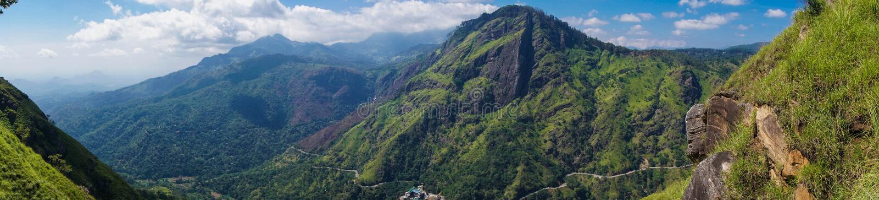 Panorama of Ella Peak Mountain in Sri Lanka. Panorama of Ella Peak Mountain Landscape in Sri Lanka royalty free stock image