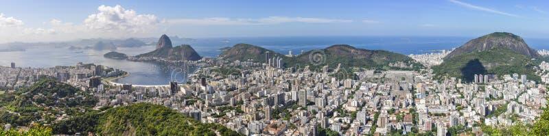 Panorama em Rio de janeiro, Brasil fotos de stock royalty free