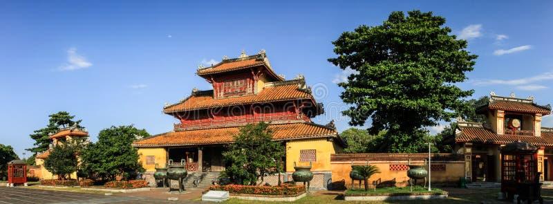 Panorama en la ciudad imperial de la tonalidad, Thua Thien-Hue, tonalidad, Vietnam imagen de archivo libre de regalías