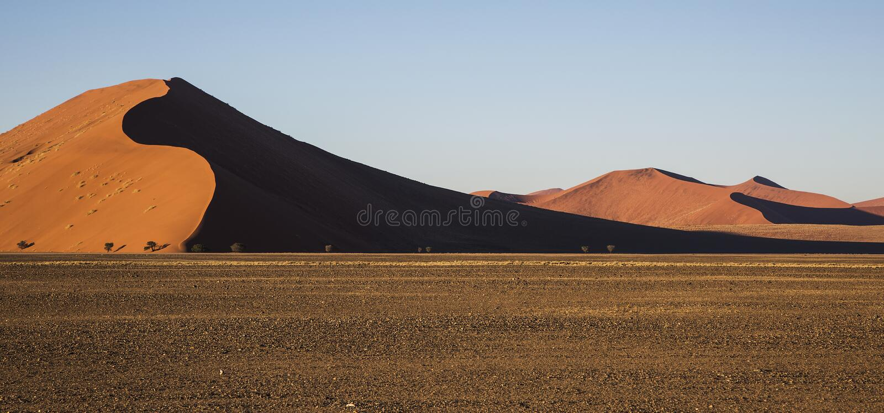 Panorama en Namibia fotografía de archivo