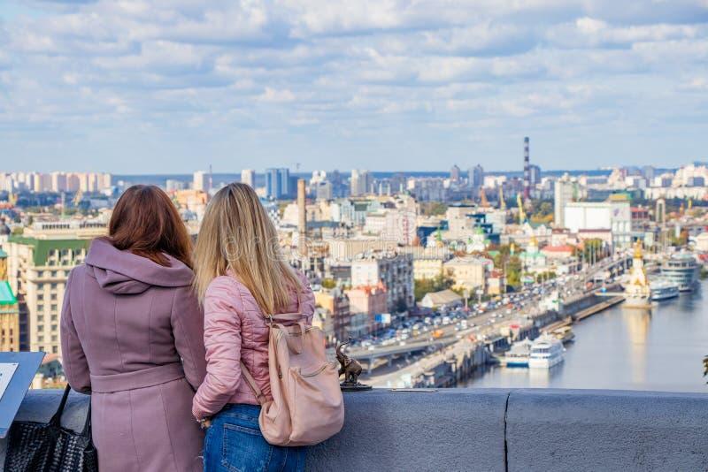 Panorama en Panoramaplaats van Kiev de Oekraïne Kiev 06 11 2018 royalty-vrije stock fotografie