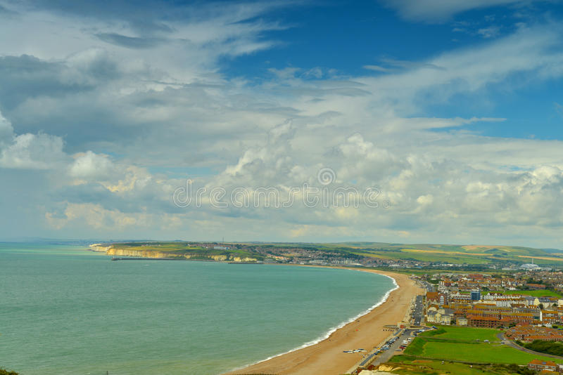 Download Panorama Of English Coast By Seaford Stock Photo - Image: 26927052